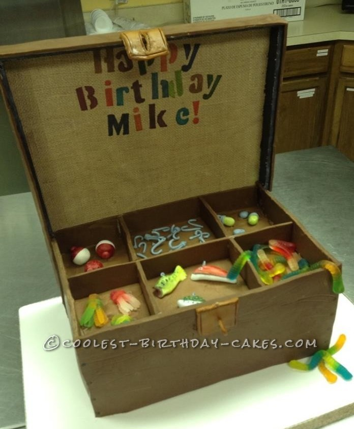 Coolest Tackle Box Birthday Cake