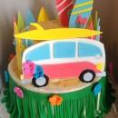 Coolest Beach Movie Luau Themed Cake