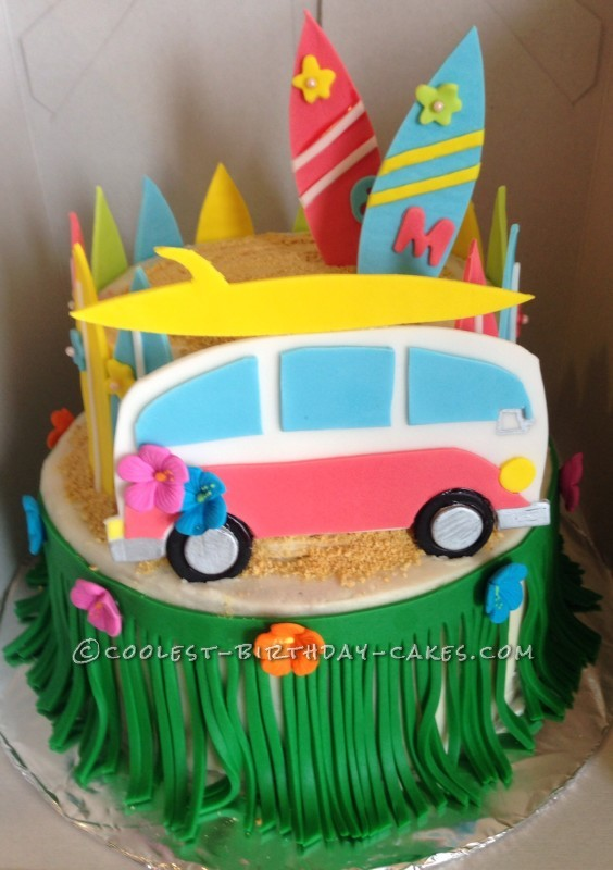 Coolest Beach Movie Luau Themed Cake