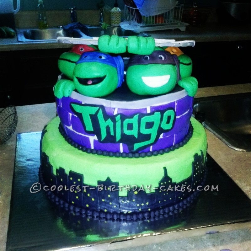 Awesome Teenage Mutant Ninja Turtles Birthday Cake