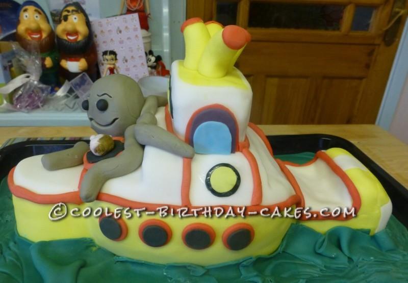 Coolest Yellow Submarine Birthday Cake