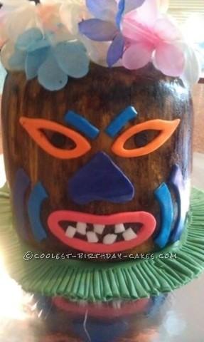 Coolest Hawaiian Theme Party Tiki Birthday Cake