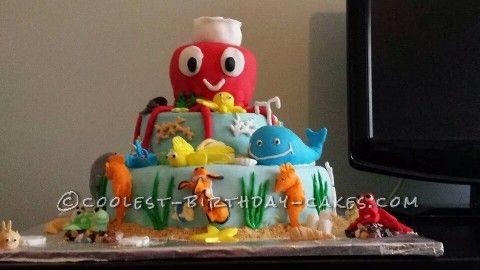 Cool Under the Sea Birthday Cake