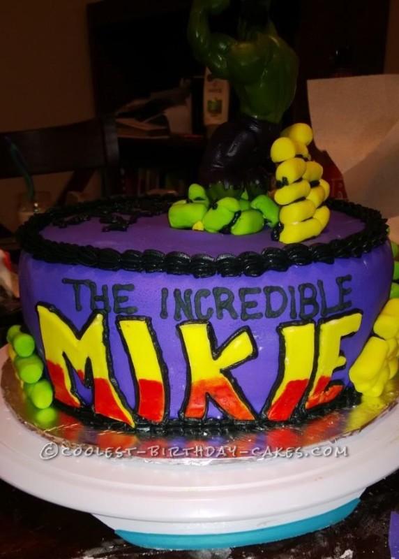Cool Incredible Hulk Birthday Cake