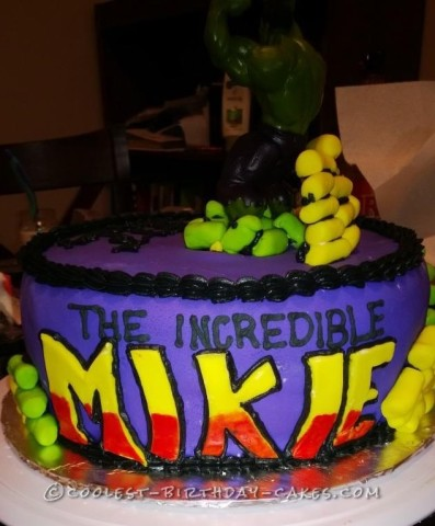 Cool Incredible Hulk Birthday Cake