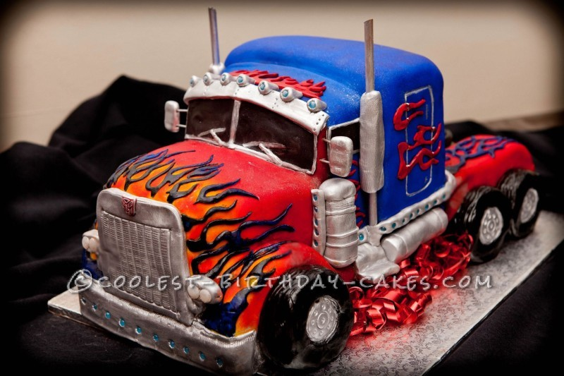 Terrific Coolest Homemade Transformers Cakes Personalised Birthday Cards Paralily Jamesorg