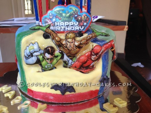 Cool Justice League Birthday Cake