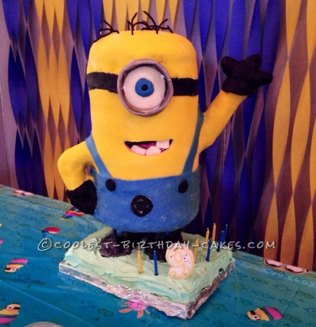 Prime Awesome Minion Cake For My Sons 9Th Birthday Funny Birthday Cards Online Inifofree Goldxyz