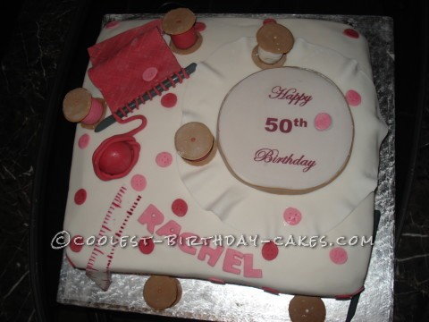 Coolest 50th Needlework Cake