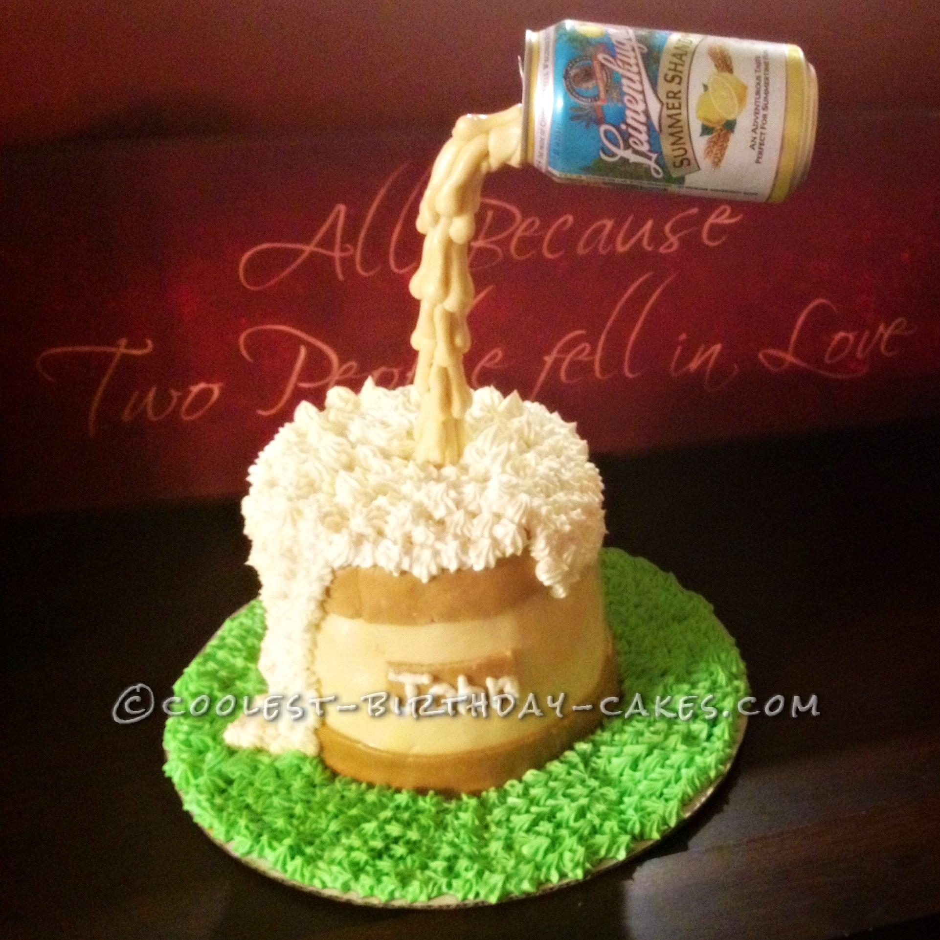 Coolest Anti-Gravity Beer Mug Cake