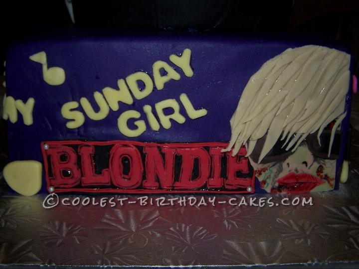 Cool Skull Cake with 70's Zombie-Style Band Covers