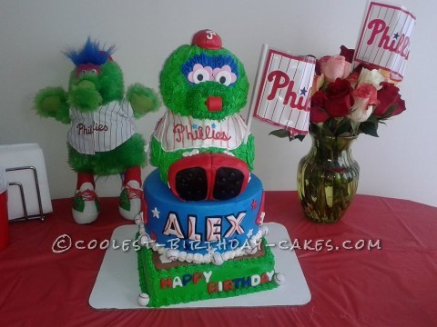 Coolest Phillie Phanatic Birthday Cake