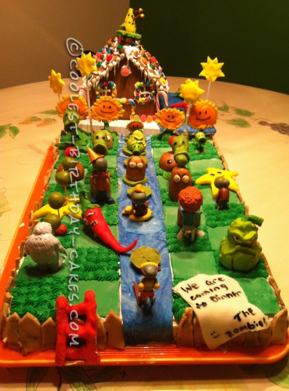 Brilliant Coolest Homemade Plants Vs Zombies Cakes Personalised Birthday Cards Veneteletsinfo