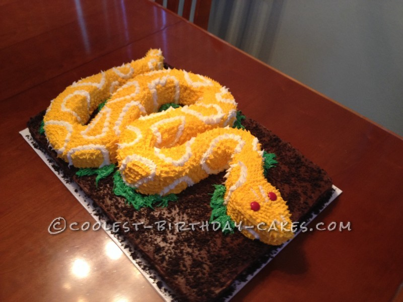 Coolest Snake Birthday Cake