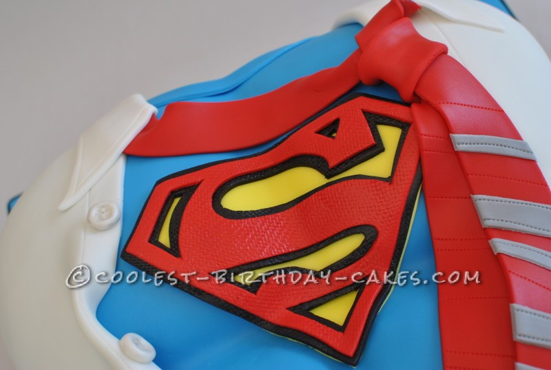 Undercover Superman Cake