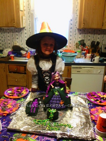 Cutest Witch Doll Cake for a Halloween Birthday