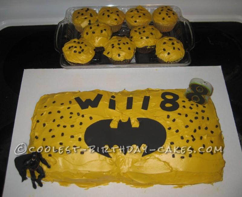 Easy Last Minute Batman Cake