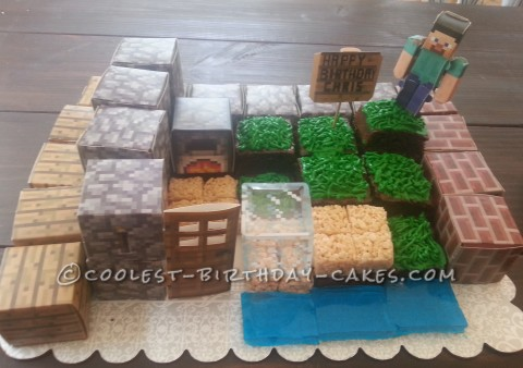 Easy Peasy Minecraft Block Cake