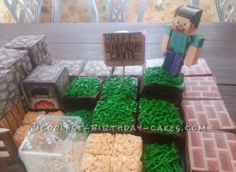 Easy Peasy Minecraft Block Cake