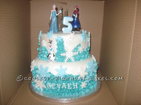 Cool Disney Frozen Birthday Cake