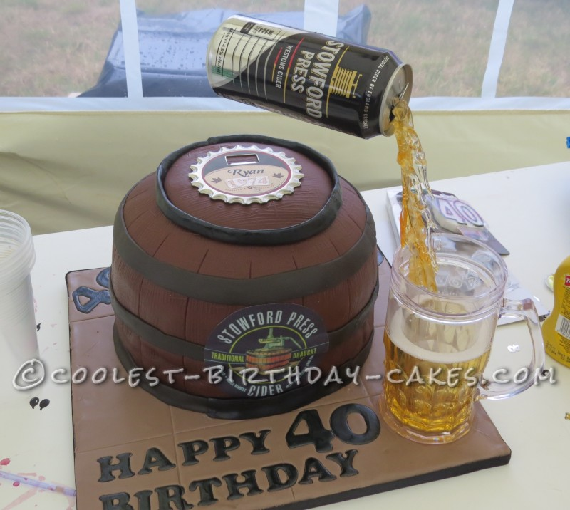 Stowford Cider 40th Birthday Anti Gravity Cake