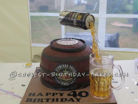 Stowford Cider 40th Birthday Anti Gravity Cakes