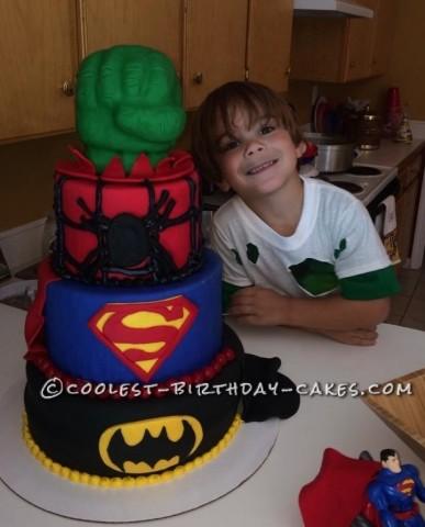 Cool Homemade Super-Hero Themed Cake
