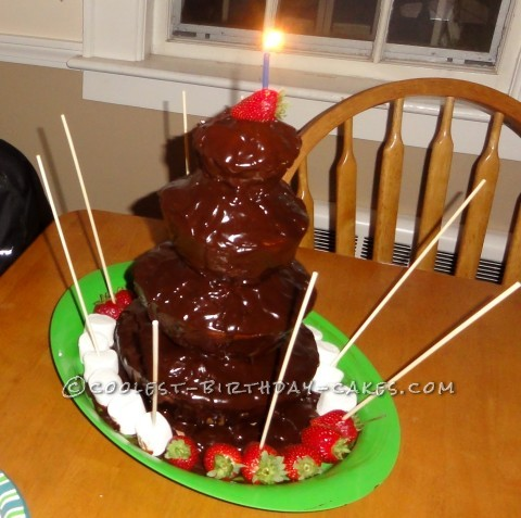 A Chocolate Fountain? No, It's a Cake!
