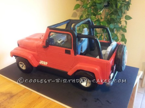 Cool Jeep Wrangler Birthday Cake