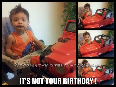 Cool Jeep Wrangler Birthday Cake