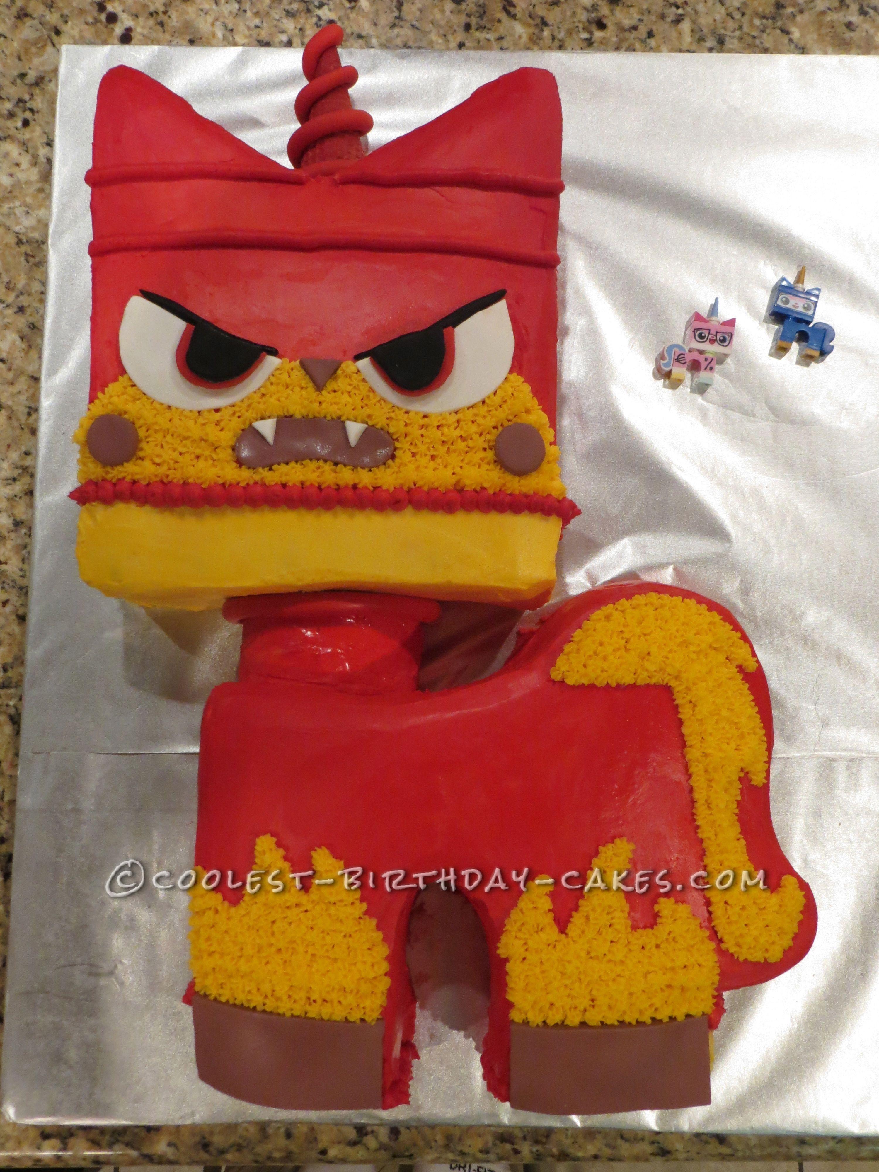 Awesome LEGO Angry Kitty Cake