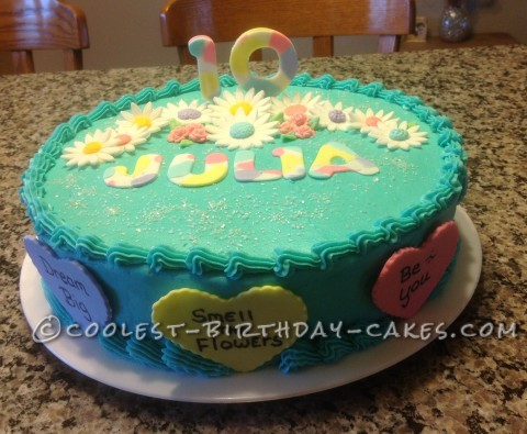 Little Words of Wisdom Birthday Cake