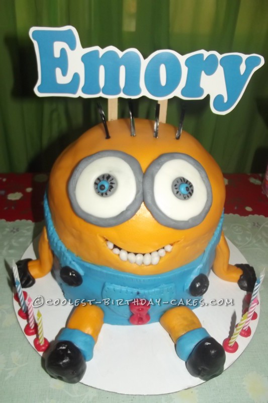 Astounding Cool Minions Birthday Cake Personalised Birthday Cards Rectzonderlifede