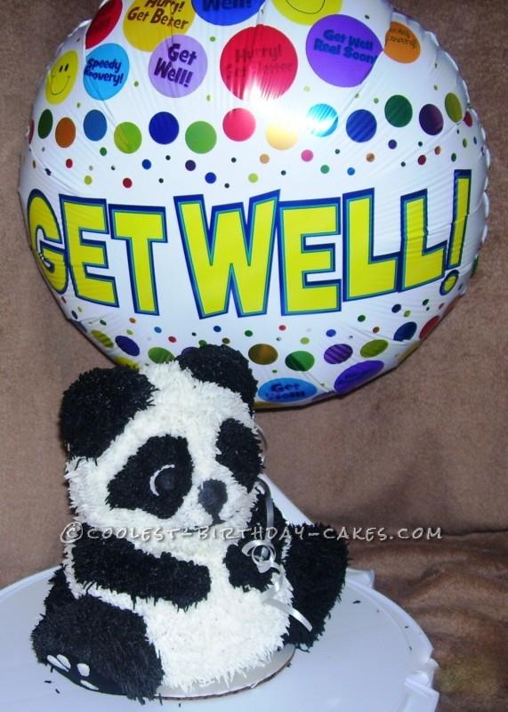 Get Well Panda Bear Cake