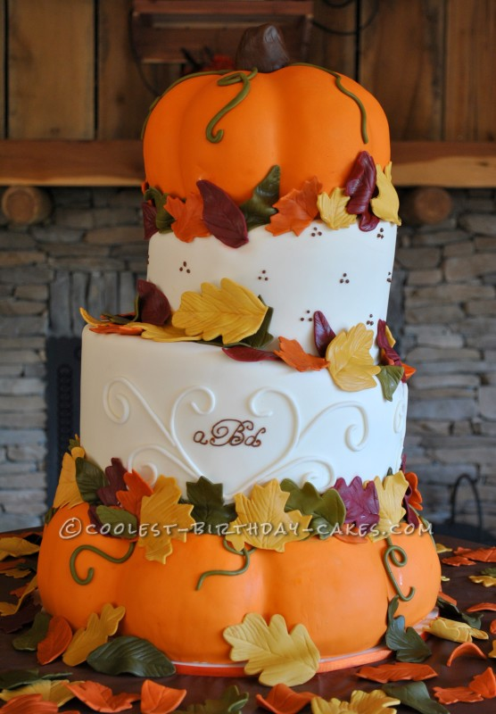 Coolest Pumpkin Wedding Cake