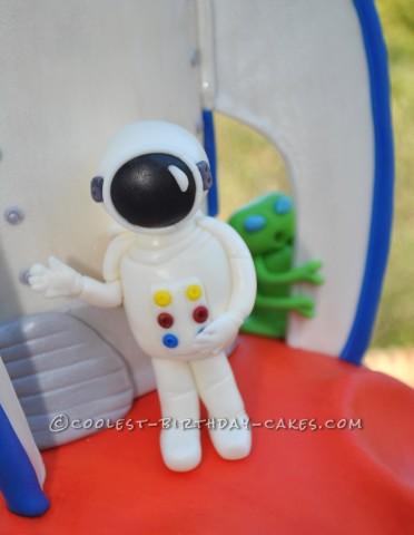 Astronaut made of fondant