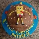 Sponge Bob Lands on the Birthday Cake