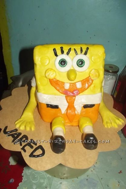 Cool Spongebob Squarepants Birthday Cake