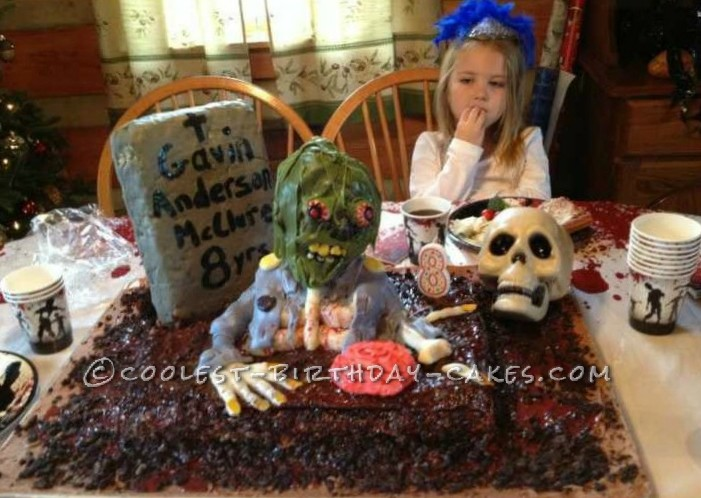 Creepy Walking Dead 8th Birthday Cake