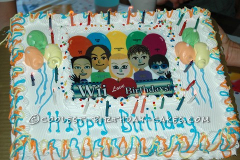 Wii LOVE Birthdays! Our Family's Five-in-One Birthday Cake