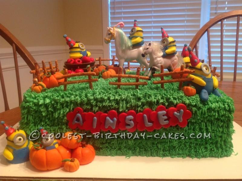 Minions Go Horseback Riding Birthday Cake
