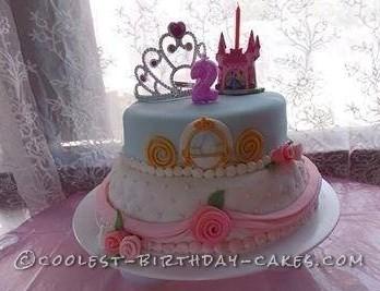 Astonishing Beautiful Princess Cake For A 2 Year Old Girl Personalised Birthday Cards Arneslily Jamesorg