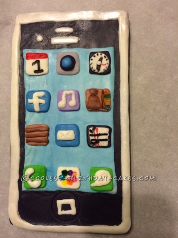 Coolest Chocolate iPhone Cake