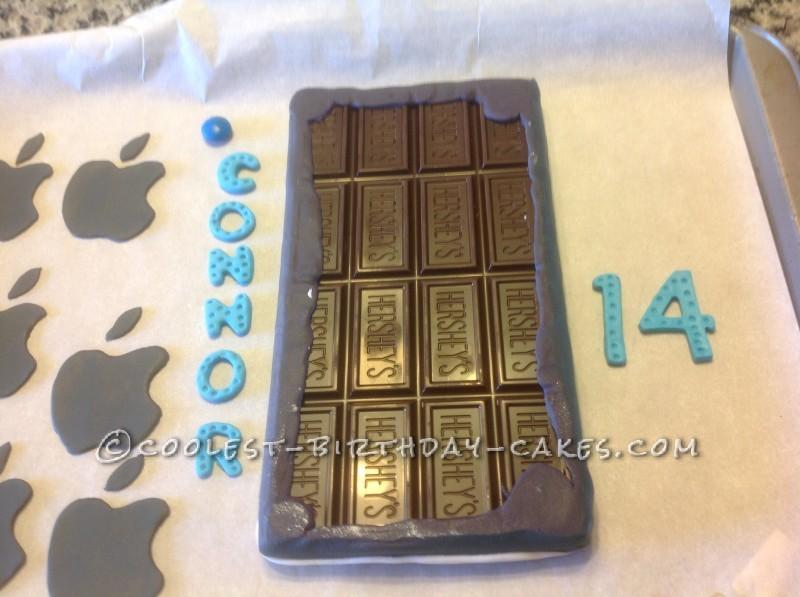 Coolest Chocolate iPhone Cake