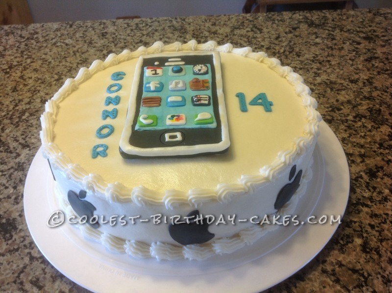 Fabulous Coolest Chocolate Iphone Cake Funny Birthday Cards Online Aeocydamsfinfo