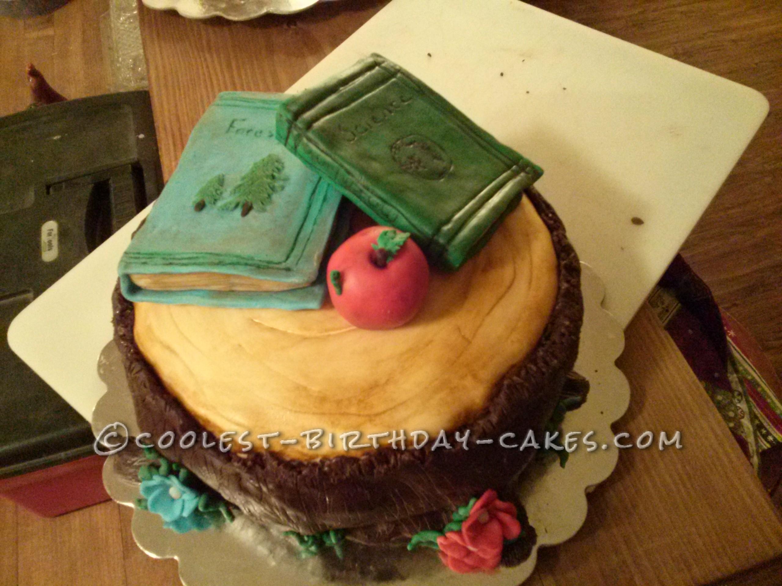 Cool Books and Stump Cake for a Lumberjill