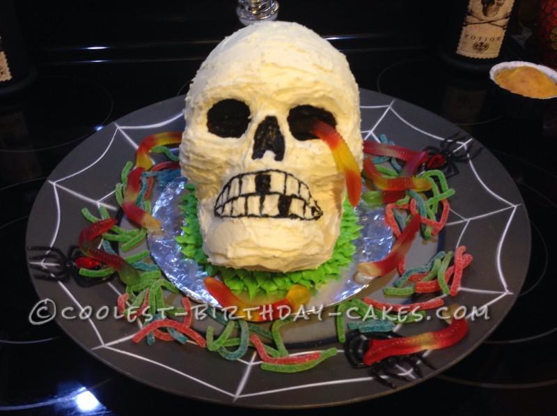 Cool Skull Cake