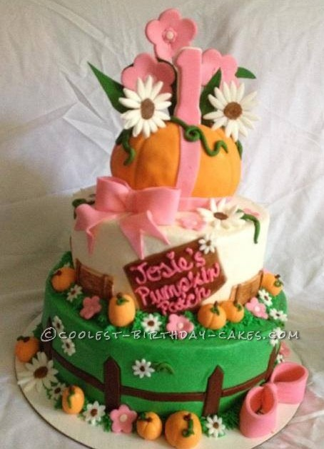 Groovy Coolest Homemade Pumpkin Patch Cake Personalised Birthday Cards Beptaeletsinfo