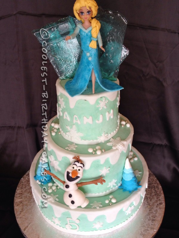 Coolest Frozen Theme Cake For A Little Girl