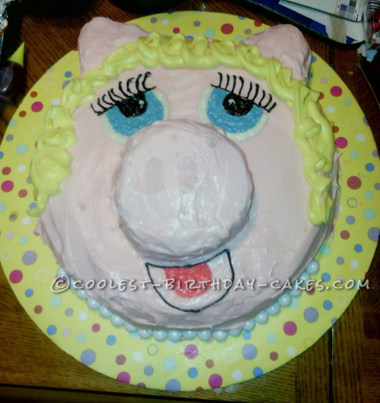 Coolest Miss Piggy Cake for a LONG Time Fan